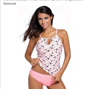 Other - Women's anchor print tankini bathing suit